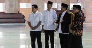 Jokowi Pantau Masjid Istiqlal Disemprot