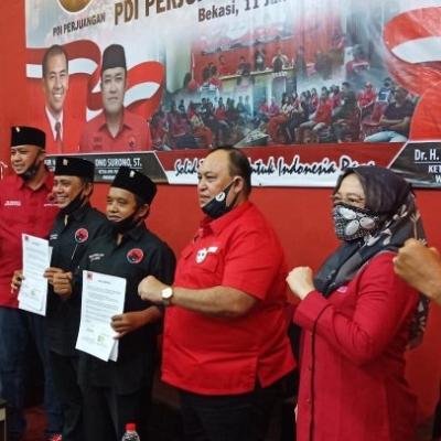 DPD PDI Perjuangan Jabar Lantik Bappilu Dan BSPN Kota Bekasi