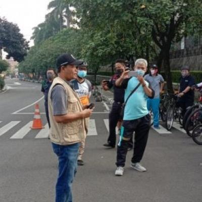 Putus Mata Rantai Corona, Gowes Mania Disuruh Kampanye 3M Di Jaksel