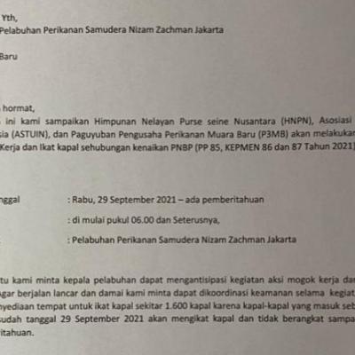 Beredar Surat Rencana Aksi Mogok Kerja dan Ikat Kapal di Pelabuhan Nizam Zahman