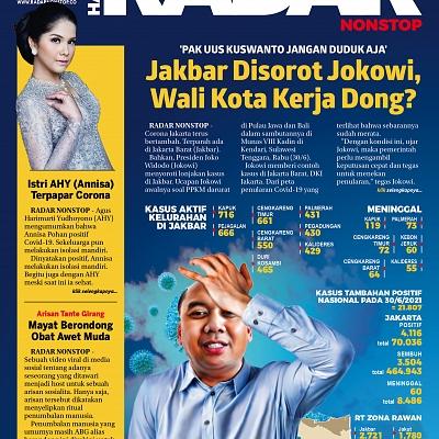 Kamis (1/7): Jakbar Jadi Sorotan Jokowi