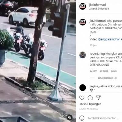 Viral, Helm DKI Dishub Dicuri di Balaikota